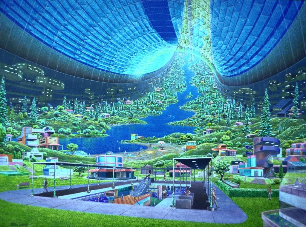 futuristic environment